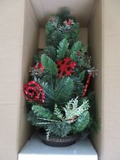 "Martha Stewart Living 32"" Red Glitter Snowflake Potted Christmas Tree"
