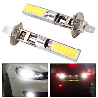 2X H1 6000K Xenon White CREE LED Headlight Bulbs Kit Fog Lights DRL Driving Lamp