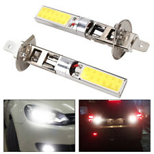 2X H1 6000K Xenon White CREE LED Headlight Bulbs Kit Fog Lights DRL Driving Lamp