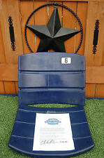 Dallas Cowboys Texas Stadium authentic Seat BACK chair Game Used COA 4 autograph