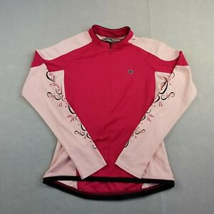 Pearl Izumi Women Jersey Small Pink Long Sleeve 1/2 Zip Pullover Polyester