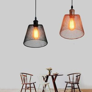 Industry Retro Led Chandelier Light Black And Rose Gold Hanging Lamp Restaurant