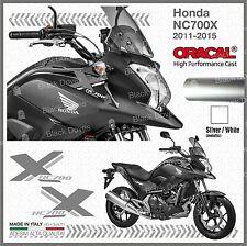 2x ADESIVI Argento Bianco compatibile con Honda NC 700 X 2011 2015 moto NC700