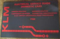 KLM Electric Service Guide for Domestic 1988