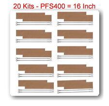 """20 Kit Replacement Heating Element 3mm + 20 Teflon For Impulse Sealer 16"""" PFS400"""