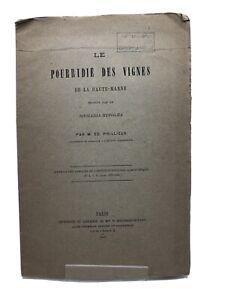 Ed. Prillieux Le Pourridié des vignes de la Haute-Marne Paris, Bouchard-Huzard,1