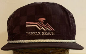 Vintage Pebble Beach Strapback Hat Made In USA