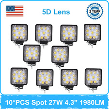 10X 27W Spot 5D Lens LED Work Light fits Jeep Toyota Bumper Off road 4X4 RZR US