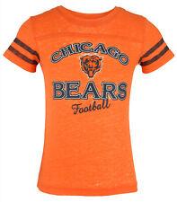 Outertstuff Nfl Youth Girls Chicago Bears Lightweight Sheer Tee Shirt