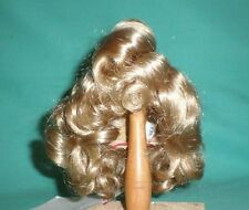 "doll wig blond 11"" to 11.5"" Glorex/Switzerland curled with guiff"