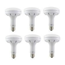 Aurio 6 Pack LED BR30 Flood Light Bulbs 12W (65W) 800lm 3000k E26 Dimmable