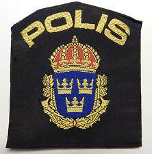 Placa de policia suecia-Swedish Police Patch-polis Sweden -