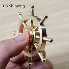 Hand Spinner Rudder Brass Fidget Finger Metal Spin Desk Toy EDC ADHD Detachable