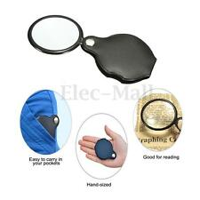 Hand-Hold 10x Magnifying Magnifier Glass Foldable Portable Jewelry Loop Loupe