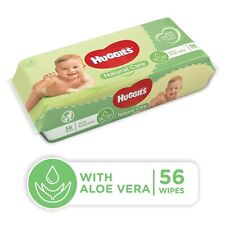 Huggies Natural Care Baby Wipes with Aloe Vera and Resealable Tape Top