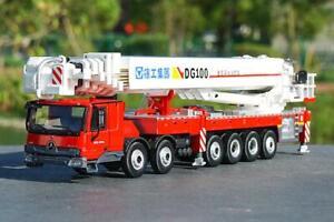 1:50 XCMG DG100 Ladder Fire Truck Benz Tractor DieCast Model Car
