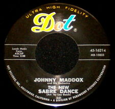 "JOHNNY MADDOX ""THE NEW SABRE DANCE/Glow Worm"" DOT 45-16214 (1961) 45rpm SINGLE"