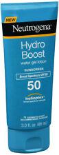 Neutrogena HydroBoost Water Gel Lotion SPF 50 SunScreen 3 oz