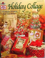 """Plaid """"Holiday Collage"""" Craft Book: 24 Christmas Home Projects using 'Mod Podge'"""