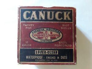 Vintage C. I. L. 12 Guage Canuck Empty Shell Box. Domininon Ammunition