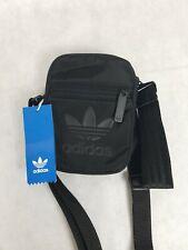 New ADIDAS Originals Unisex Messenger Crossbody Bag Black Wrist Bag Fanny Sling