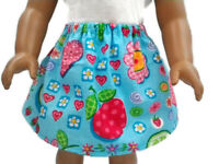 """Skirt fits American Girl dolls 18"""" Doll Clothes Fruit Hearts Flowers Skirt"""