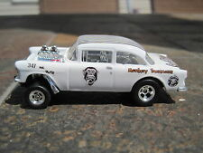 Hot Wheels Custom 55 Chevy Bel Air Gasser White Gas Monkey 1 of 1