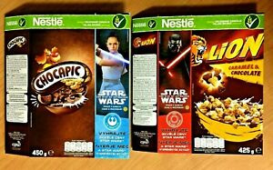 NESTLE STAR WARS RISE OF SYWALKER CEREAL EMPTY BOXES POLAND 2 Pcs.