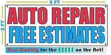 AUTO REPAIR FREE ESTIMATES Banner Sign NEW Larger Size Best Quality for The $$$