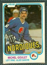 Michel Goulet 2nd Yr 1981-82 OPC 81 O-Pee-Chee NHL Card #275 EXa Quebec Nordique