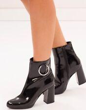 SPURR Hava Ankle Boots  Black Patent / Size AU/US 7