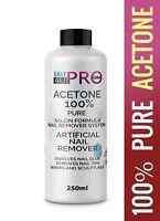 100% Pure Acetone Superior Quality Nail Polish Remover UV/LED GEL Soak Off 250ML