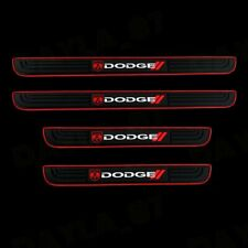 For NEW DODGE 4PCS Black Rubber Car Door Scuff Sill Cover Panel Step Protector