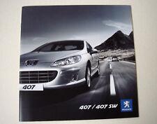 Peugeot . 407 / 407 SW . October 2009 Sales Brochure