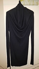 JULIUS 7 Brand New Wool Silk Cashmere Knit Sweater Black 2013FW Size 3 Fit Small