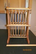 """Vintage Wooden Magazine Rack 20"""" Tall by Levenger"""