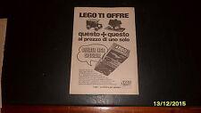 Advertising Italian Pubblicità: LEGO OFFERTA SPECIALE *1968*