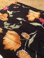 Black Floral Rayon Blend For That perfect Dress!