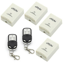 100-240V 4X1Ch Relay Wireless Smart Remote Control Switch 2 Transmitter Receiver