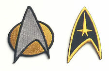 Set of 2 Star Trek Embroidered Patches, sew or iron on