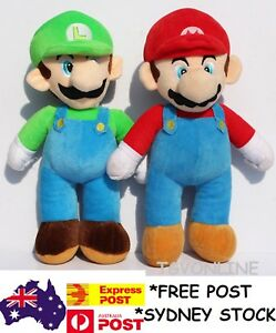 Super Mario Brothers 25cm Plush Toys Mario Bros Doll Soft Stuffed Luigi Toy