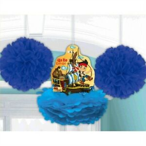 JAKE & THE NEVER LAND PIRATES FLUFFY DECORATIONS (3pc) ~ Birthday Party Supplies