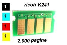 x4 Chip per Toner Ricoh K241 2.000 pagine AFICIO SPC 240SF 240DN C220N C220S