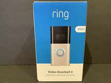 Ring Video Doorbell 3 Satin Nickel Venetian Bronze Brand New Sealed in Box!