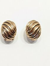 QVC BRONZE MILOR ITALY LEAVER BACK PIERCED EARRINGS