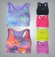 Ladies Branded USA Pro Gym Padded Cups Medium Sports Bra Workout Top Size 6-16