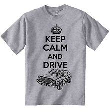 ALFA SUD SPRINT KEEP CALM AND DRIVE- NEW COTTON GREY TSHIRT - ALL SIZES IN STOCK