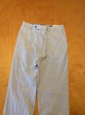 """$45 Lauren Ralph Lauren Seersucker Pants Size 16R/28""""W P61 Q"""