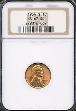 1954-S Lincoln Cent NGC MS67RD