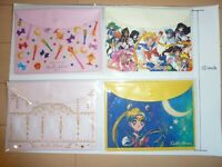 Sailor Moon Seven-Eleven 4 Plastic bag set Flap pouch
